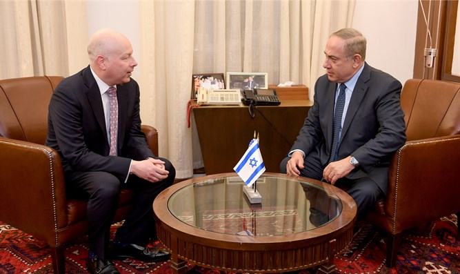 Netanyahu meets with WH envoy Greenblatt