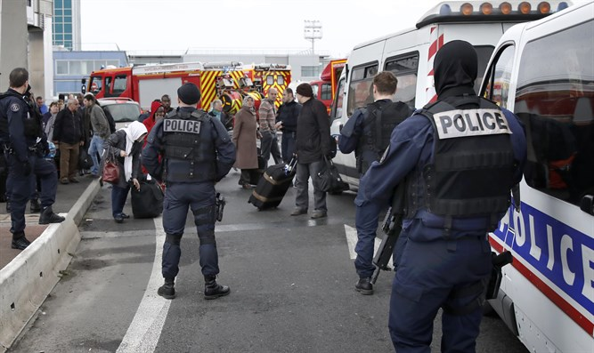 Police at Orly airport southern terminal after shooting incident near Paris