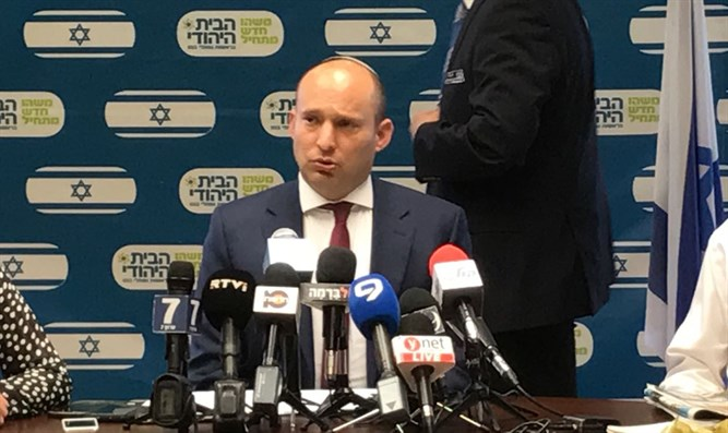 Bennett at faction meeting