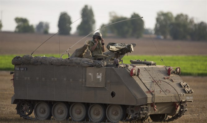 IDF tank on Gaza border
