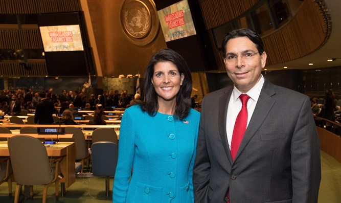 Ambassadors Danny Danon and Nikki Haley