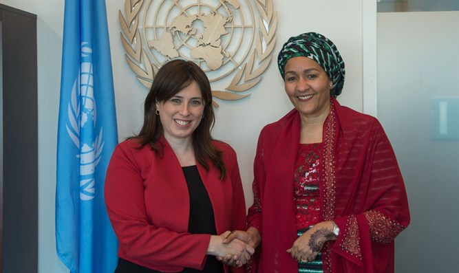 Hotovely with Deputy Secretary-General Amina Muhammad