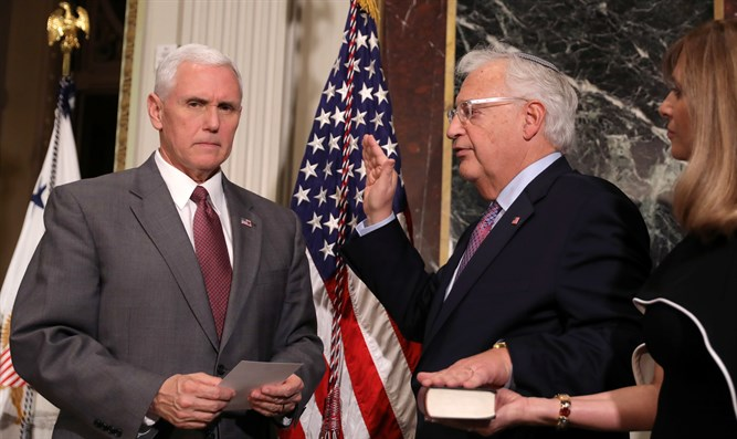 VP Pence hosts swearing in Amb. David Friedman