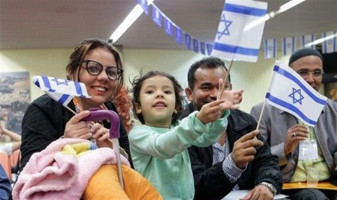 New olim from Brazil arrive in Israel
