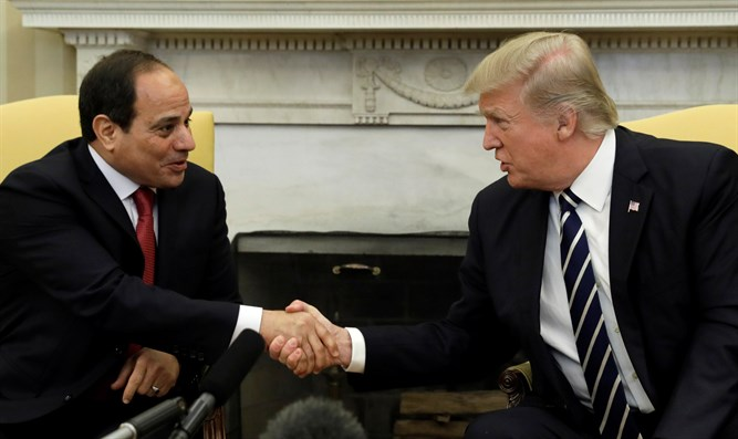 Trump and Sisi at the Whit House