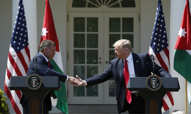 Trump and King Abdullah at White House