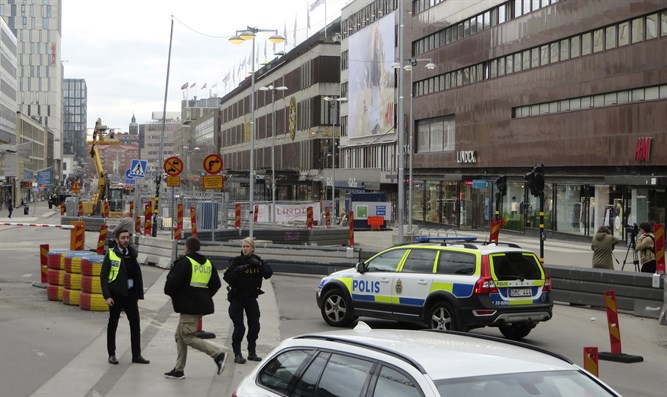 Scene of the Stockholm terror attac
