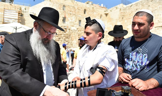 Orphaned Bar Mitzvah boys celebrate in Jerusalem