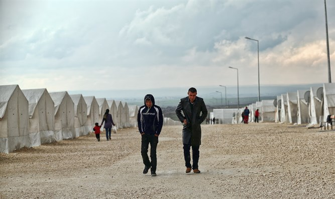 A view of the Suruc refugee camp in Turkey, which houses some 35,000 Syrian refugees.