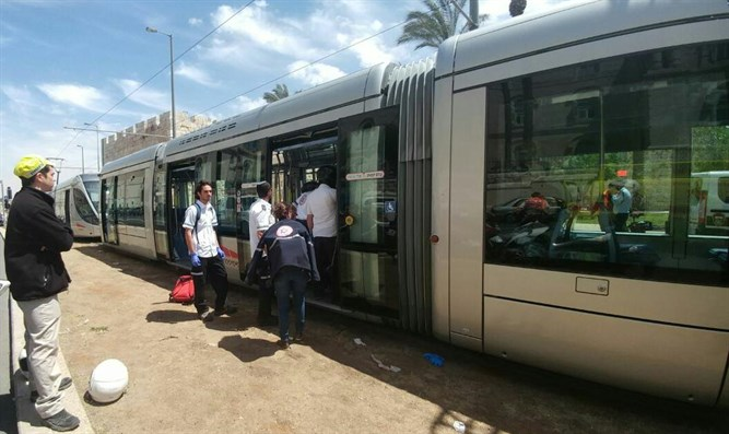 Scene of Jerusalem's light rail attack