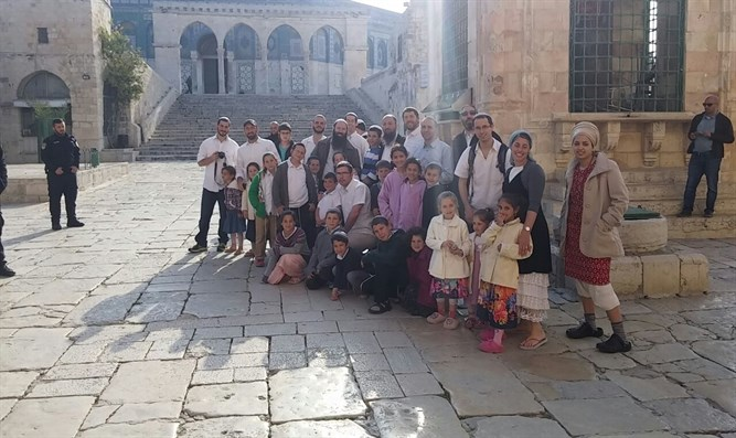 Jews visit the Temple Mount on Sunday morning