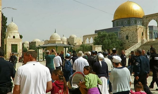 Scenes from the holiday on the Temple Mount