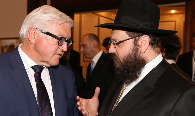 Rabbi Teichtal with President Steinmeier