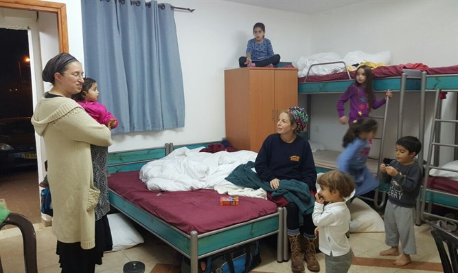 Amona residents live in a dormitory
