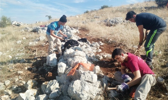 Melach Haaretz preparatory program students discover Ottoman army military position