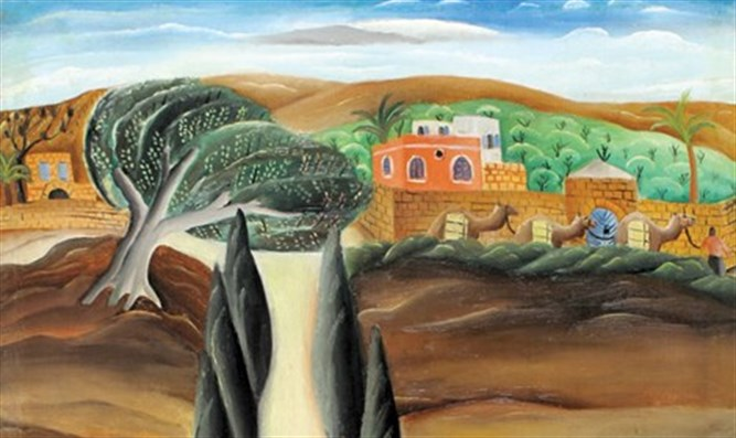 Reuven Rubin, Shaykh-Munis 1923-1924, oil on canvas