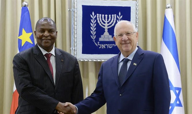 President Reuven Rivlin with Central African Republic President Faustin-Archange Touadéra