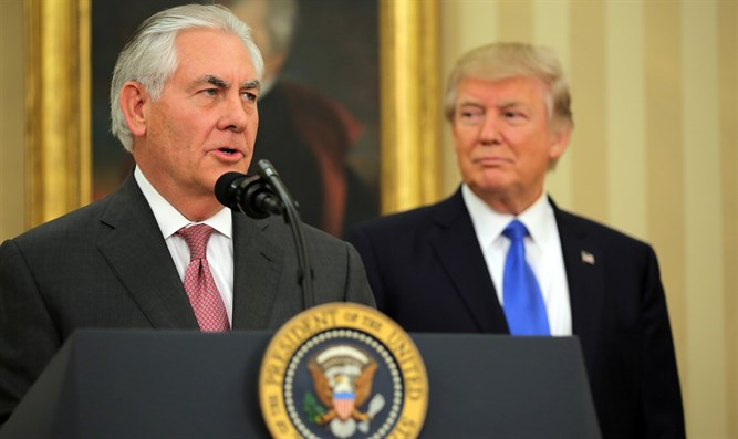 Rex Tillerson and President Trump