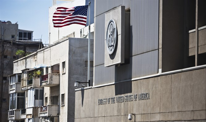 US Embassy at its present location in Tel Aviv