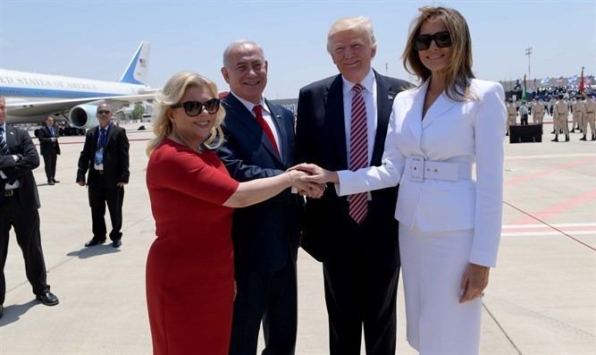 Netanyahus meet with Donald Trump and Melania