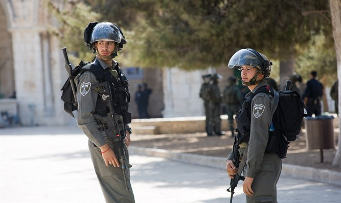 Border Police on the Temple Mount