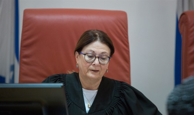 Supreme Court chief justice Esther Hayut