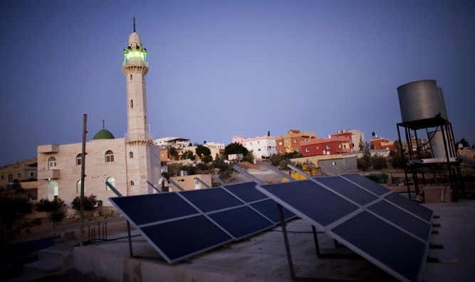 Solar panels in a Bedouin village
