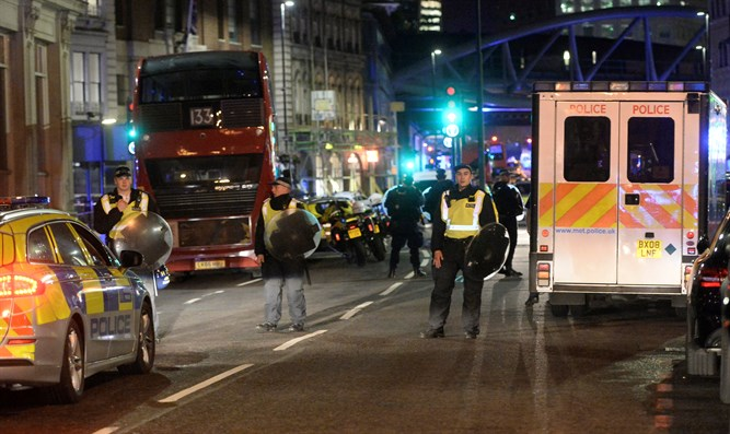 Scene of London Bridge attack