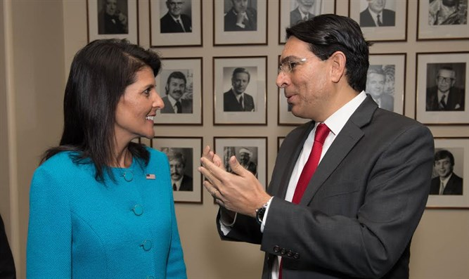 US Ambassador to the UN Nikki Haley and Israeli Ambassador to the UN Danny Danon