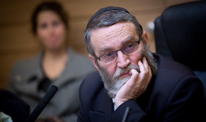 Head of FInance committee Moshe Gafni attends FInance committee meeting