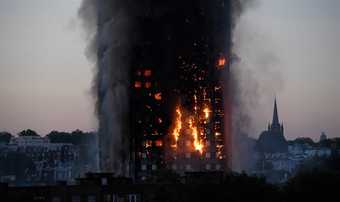 24-story London skyscrapper goes up in flames