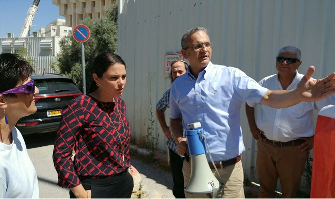 Ayelet Shaked at Beit El protest