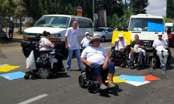 Disabled protesters