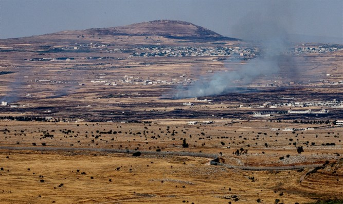 Fire sparked in Golan after Syrian mortars hit Israel (archive)