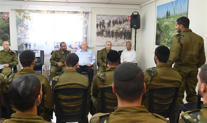 Rivlin with Netzach Yehuda fighters
