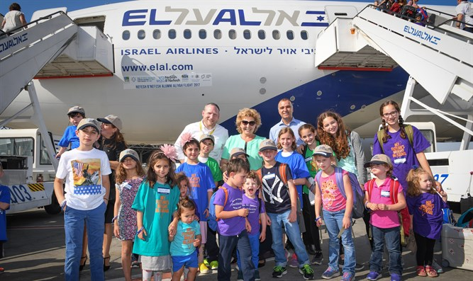 Nefesh B'Nefesh charter flight lands in Israel