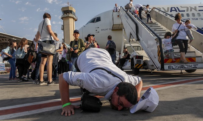 French Jews arrive today in Israel