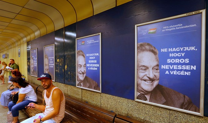 anti-Soros posters in Hungary