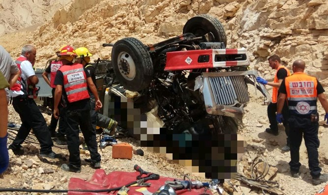 Accident on Route 12 north of Eilat