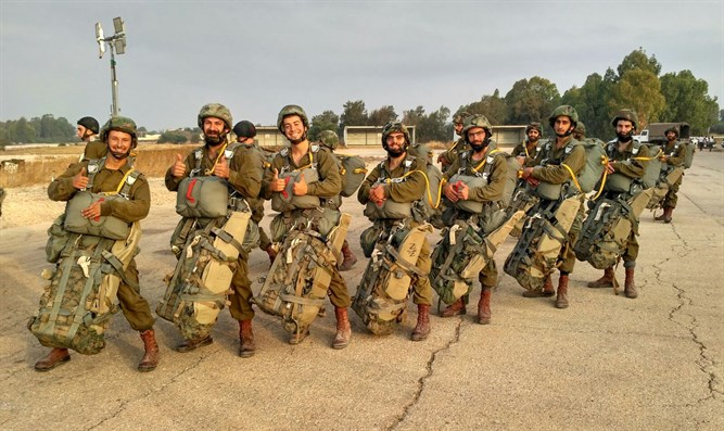 The haredi paratroopers. yesterday