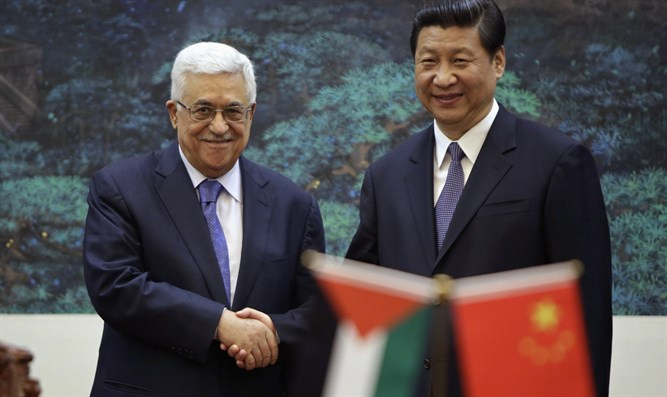 Mahmoud Abbas and Xi Jinping (archive)