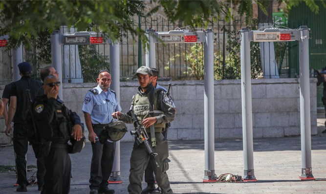 metal detectors on the Temple Mount