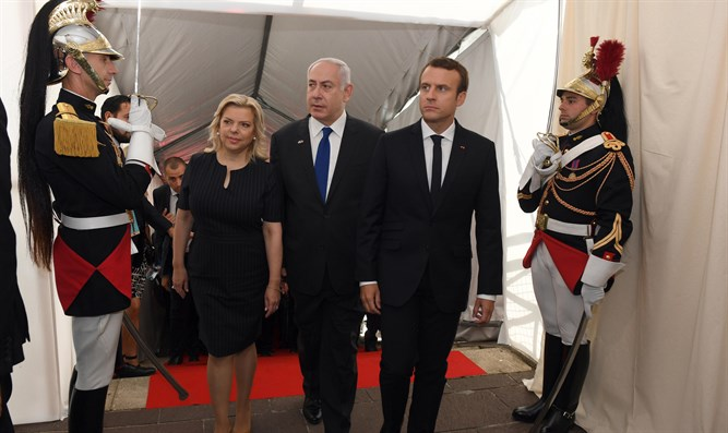 Macron and Netanyahu, today