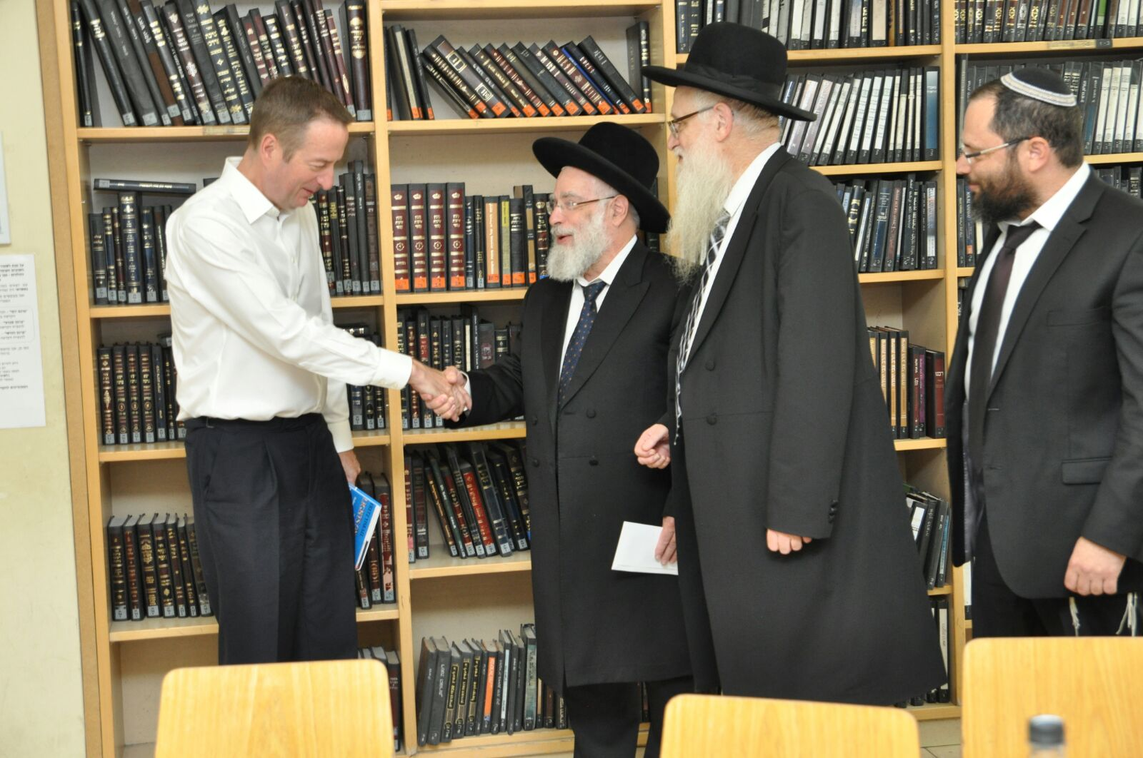 UK Amb. at Merkaz HaRav Yeshiva