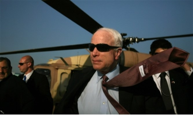 McCain in Israel (file)