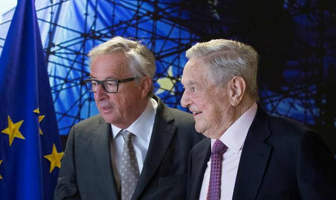 Passionate intensity: EU Commission President Jean-Claude Juncker meets US financier Georg