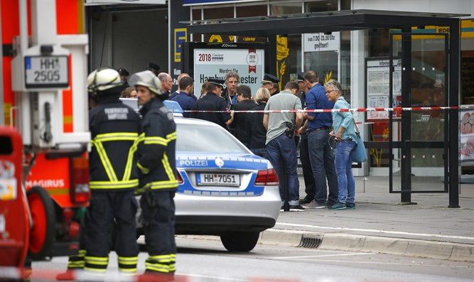 Scene of Hamburg stabbing