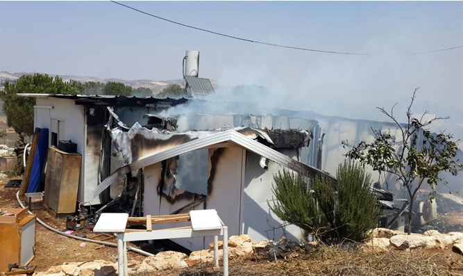 Burnt Feiman home in Mevo Dotan
