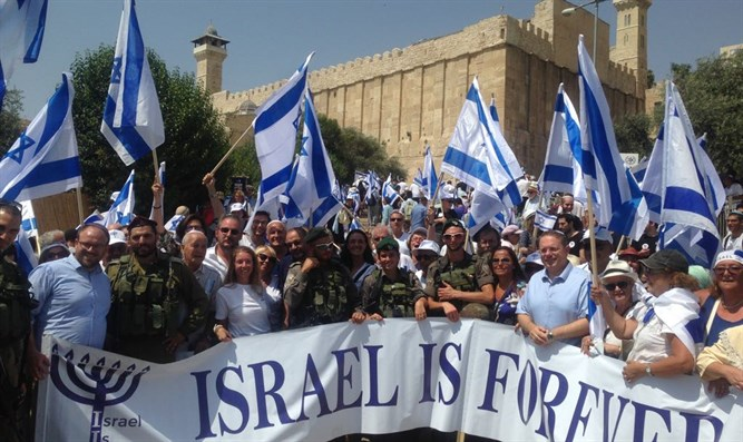 French Jews march in Hevron