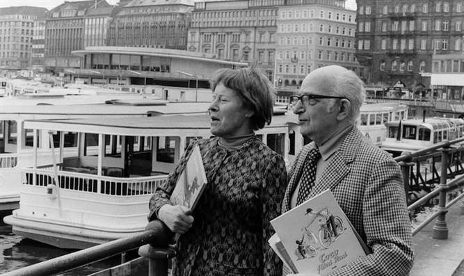 Margret and H. A. Rey in Hamburg, Germany, May, 1973.